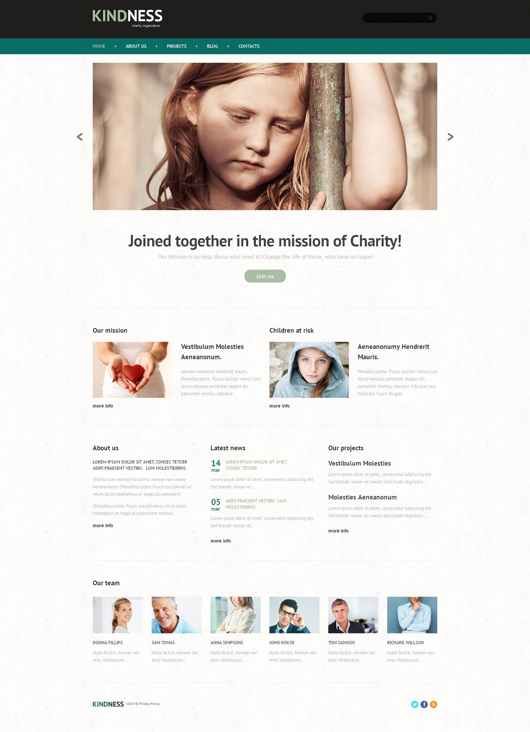 Tema WordPress para Sites de Caridade para Crianças №48790