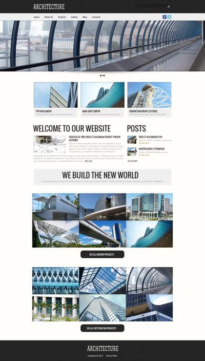 Construction Company Responsive Template Siti Web
