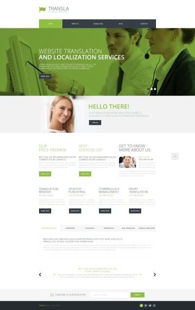 Flexível template Web №48775 para Sites de Agencia de Traduções