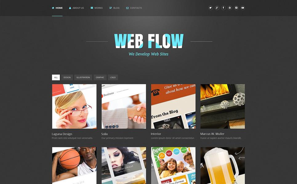 Template WordPress Responsive #48745 per Un Sito di Web Design New Screenshots BIG