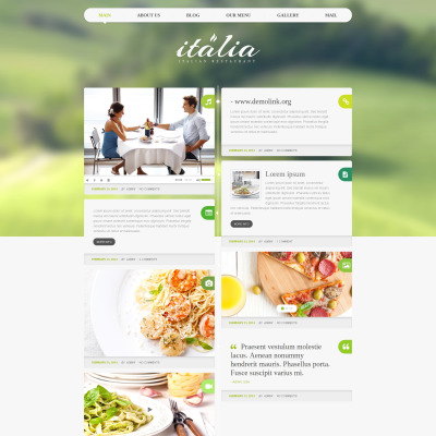 Thème WordPress adaptatif  pour restaurant italien