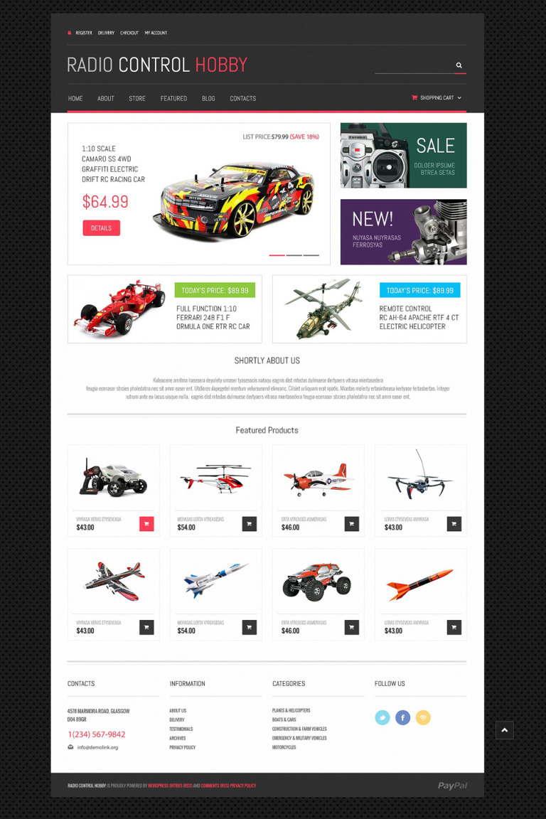 Toy Store Responsive WooCommerce Theme New Screenshots BIG