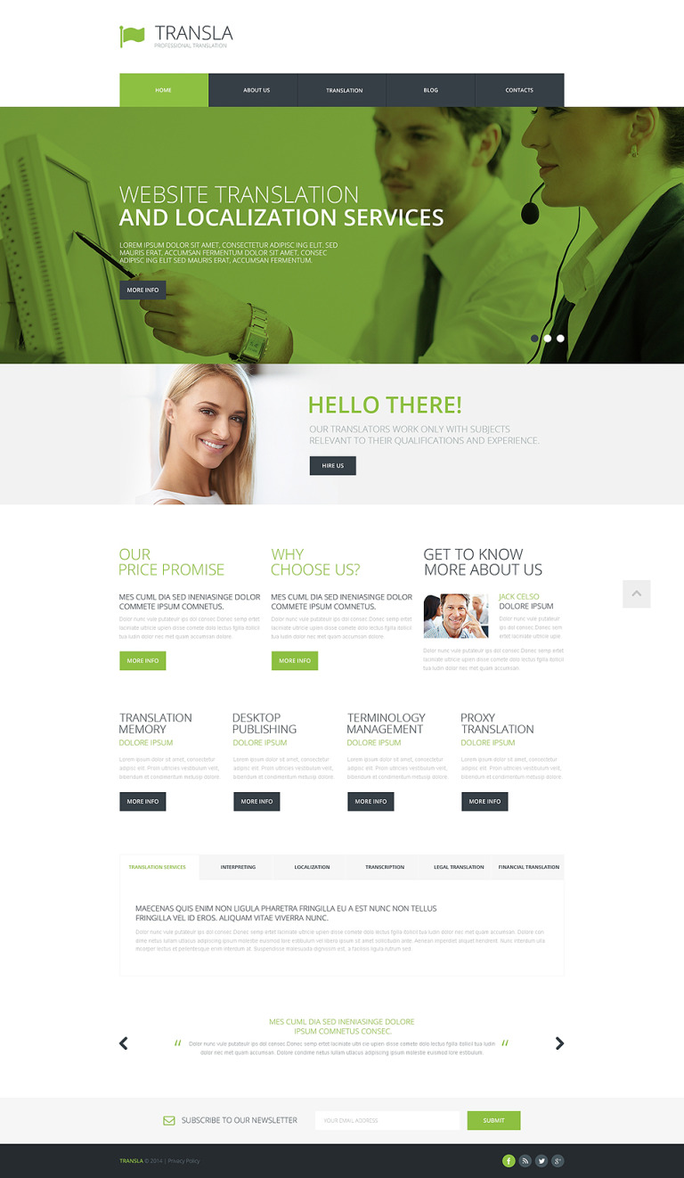 Translation Bureau Responsive Website Template New Screenshots BIG