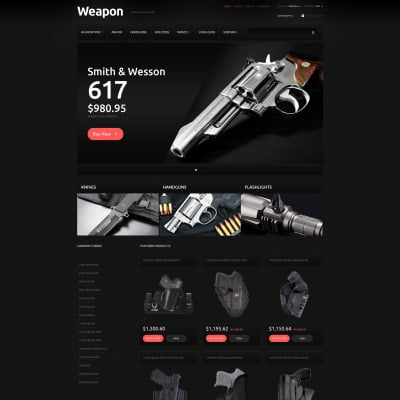 Gun Shop Templates TemplateMonster - Construction invoice template free download largest online gun store
