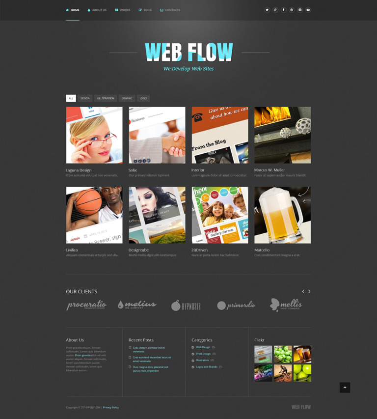 Web Design Responsive WordPress Theme New Screenshots BIG