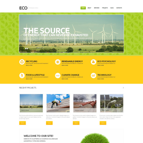 Eco - WordPress Template based on Bootstrap