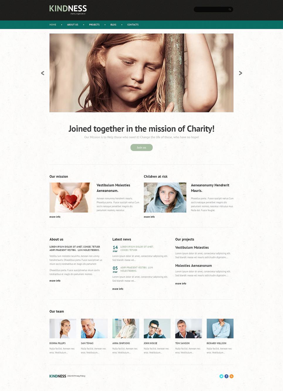 Шаблон сайта на тему детская благотворительность #48790