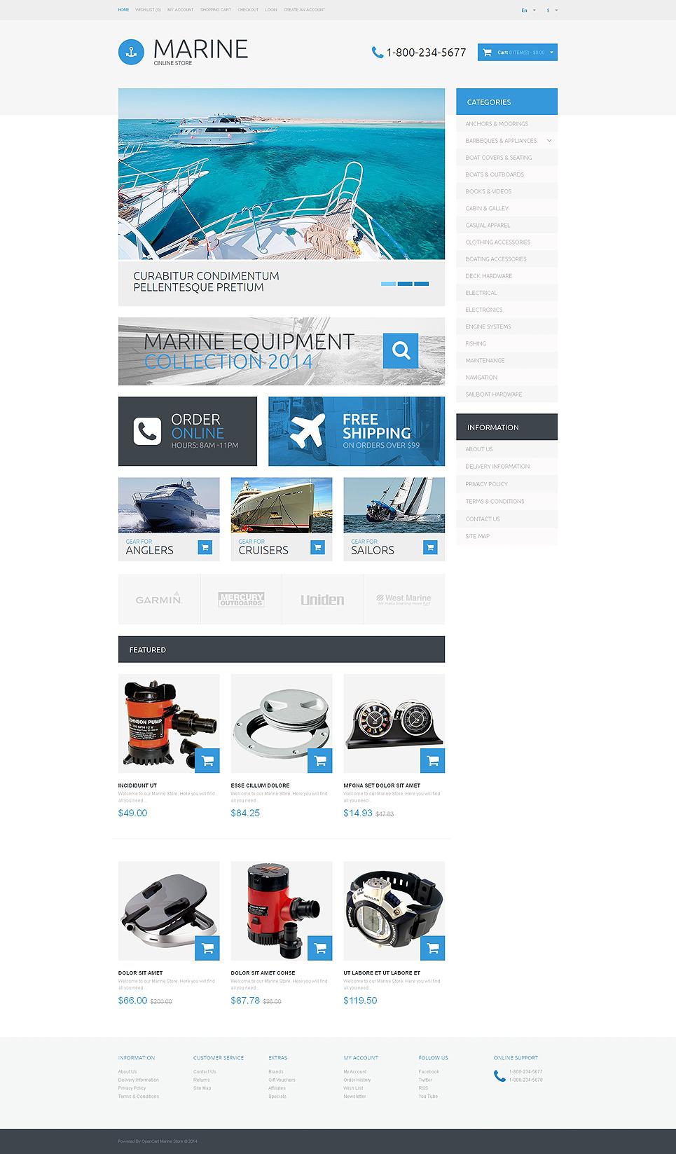 Yachting Responsive OpenCart Template New Screenshots BIG