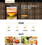 Cafe & Restaurant Joomla  Template 48803