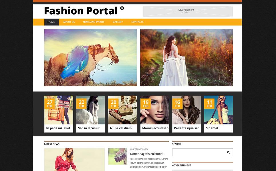 Responsive Joomla Vorlage für Mode-Blog  New Screenshots BIG