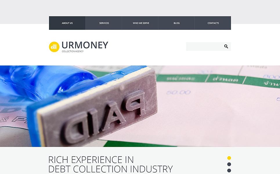 Responsive Website Vorlage für Finanzberater  New Screenshots BIG