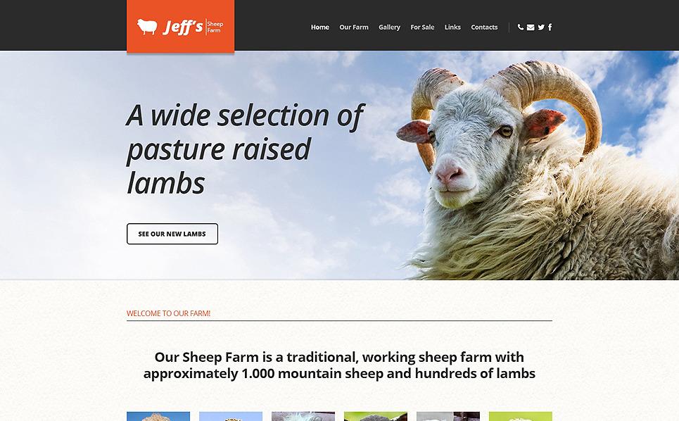 Responsive Website Vorlage für Schaffarm  New Screenshots BIG