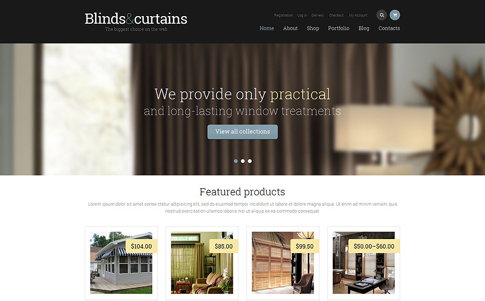 Responsives WooCommerce Theme für Fensterdekoration Homepage New Screenshots BIG