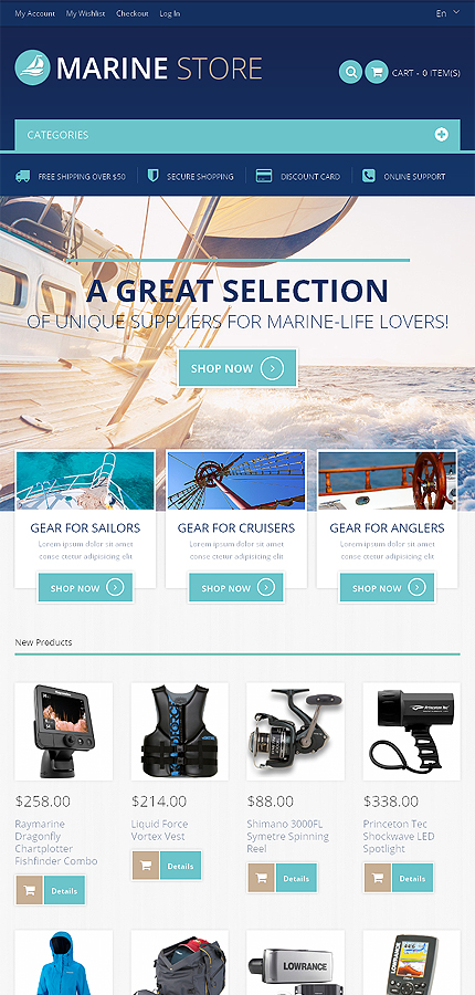 Magento Theme/Template 48816 Main Page Screenshot