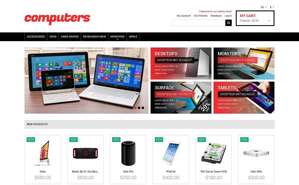 Responzivní Magento motiv na téma Počítačový obchod New Screenshots BIG