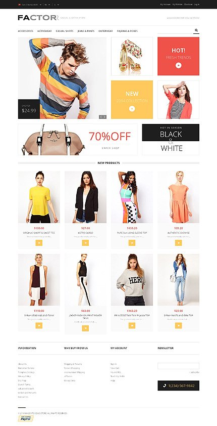 Style factor magento theme website templates for Magento community templates