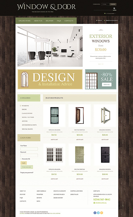 ADOBE Photoshop Template 48826 Home Page Screenshot