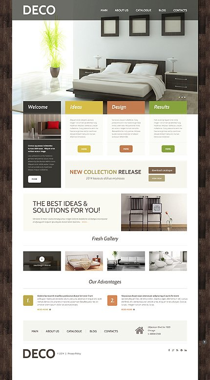 WordPress Theme/Template 48830 Main Page Screenshot