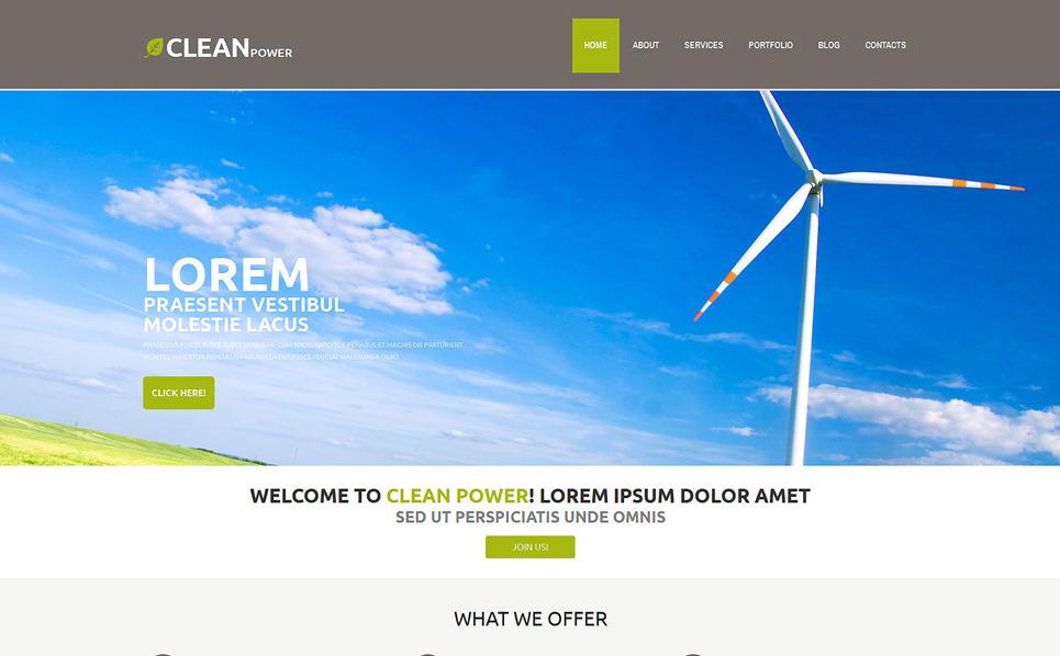 Responzivní WordPress motiv na téma Větrná energie New Screenshots BIG