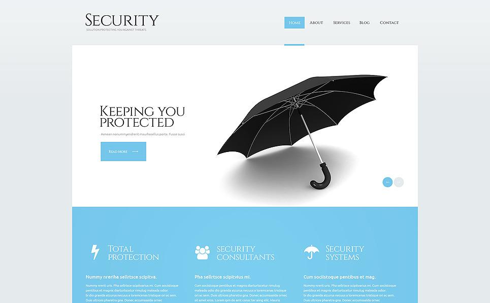Reszponzív Biztonság WordPress sablon New Screenshots BIG