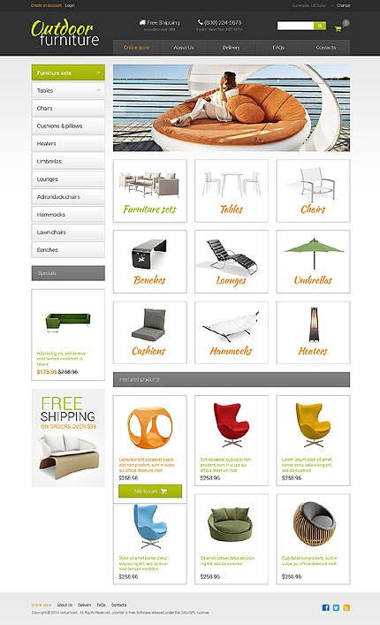 ADOBE Photoshop Template 48846 Home Page Screenshot