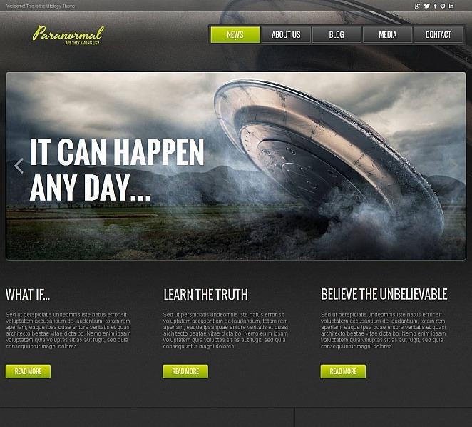 Szablon Moto CMS HTML #48852 na temat: UFO New Screenshots BIG