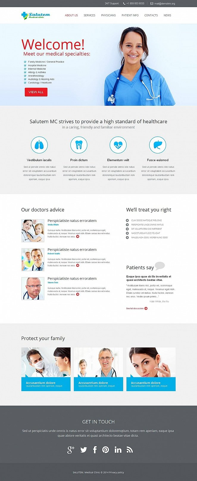 Medical Clinic Web Template with CMS - image