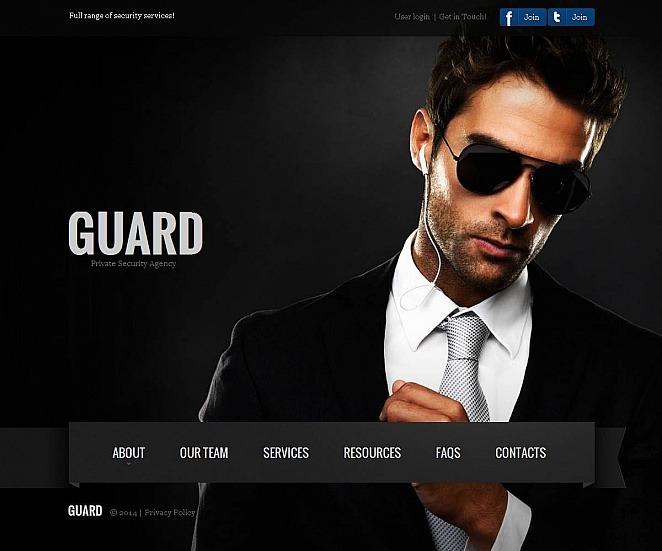 Szablon Moto CMS HTML #48859 na temat: bezpieczeństwo New Screenshots BIG