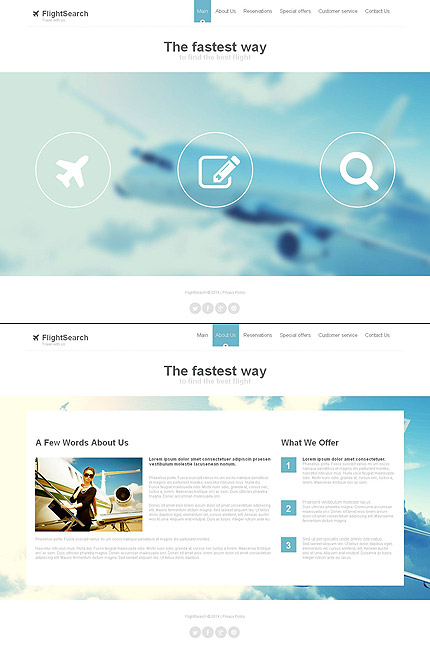 ADOBE Photoshop Template 48860 Home Page Screenshot