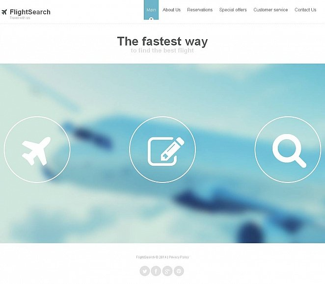 Flight Search Website Template - image