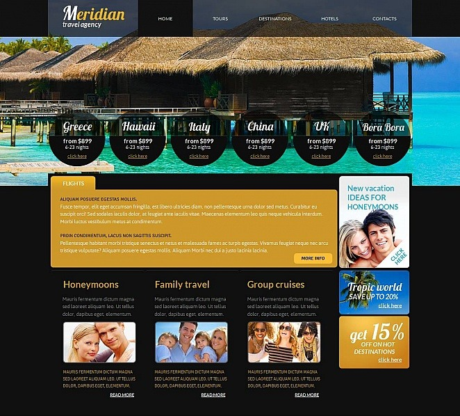 Template Moto CMS HTML para Sites de Agencia de Viagens №48861 New Screenshots BIG