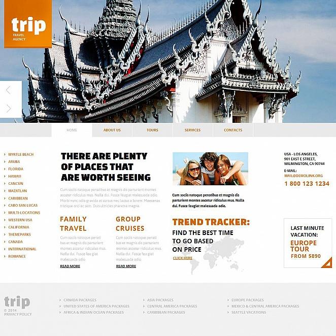Travel Agency Website Design with Header Image Slider - image