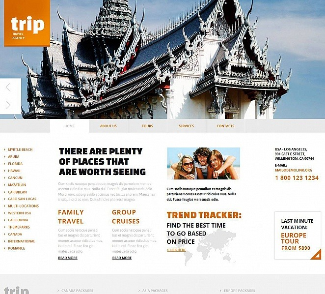 Template Moto CMS HTML para Sites de Agencia de Viagens №48862 New Screenshots BIG
