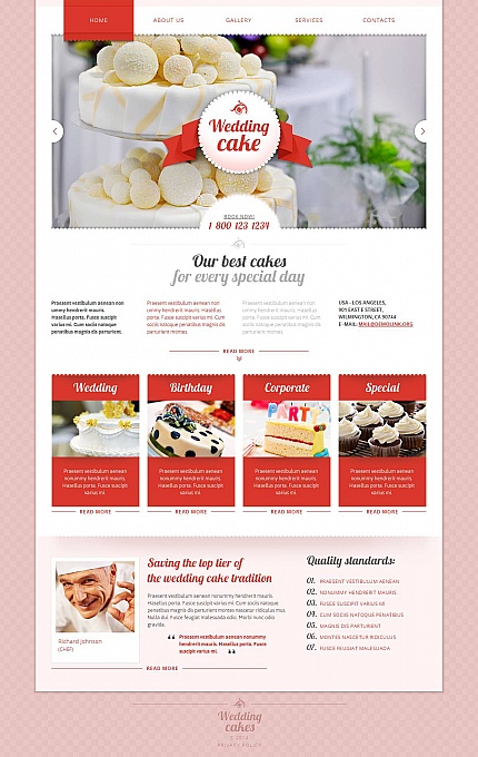 ADOBE Photoshop Template 48863 Home Page Screenshot