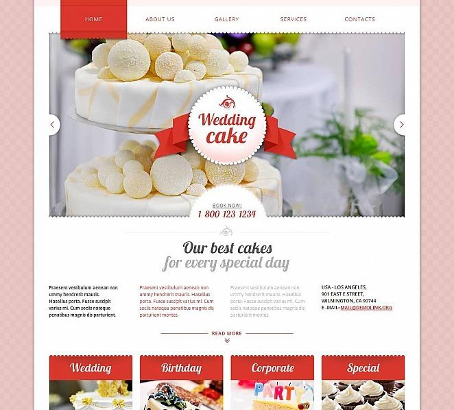 Template Moto CMS HTML para Sites de Bolos para Casamento №48863 New Screenshots BIG