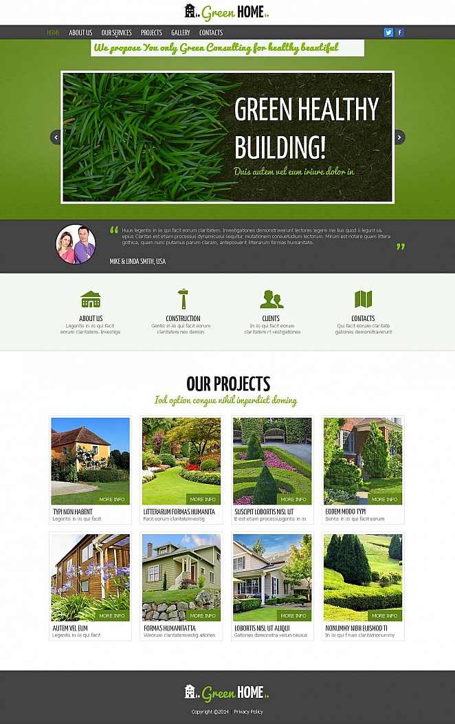 Green Building Consulting Website Template - image