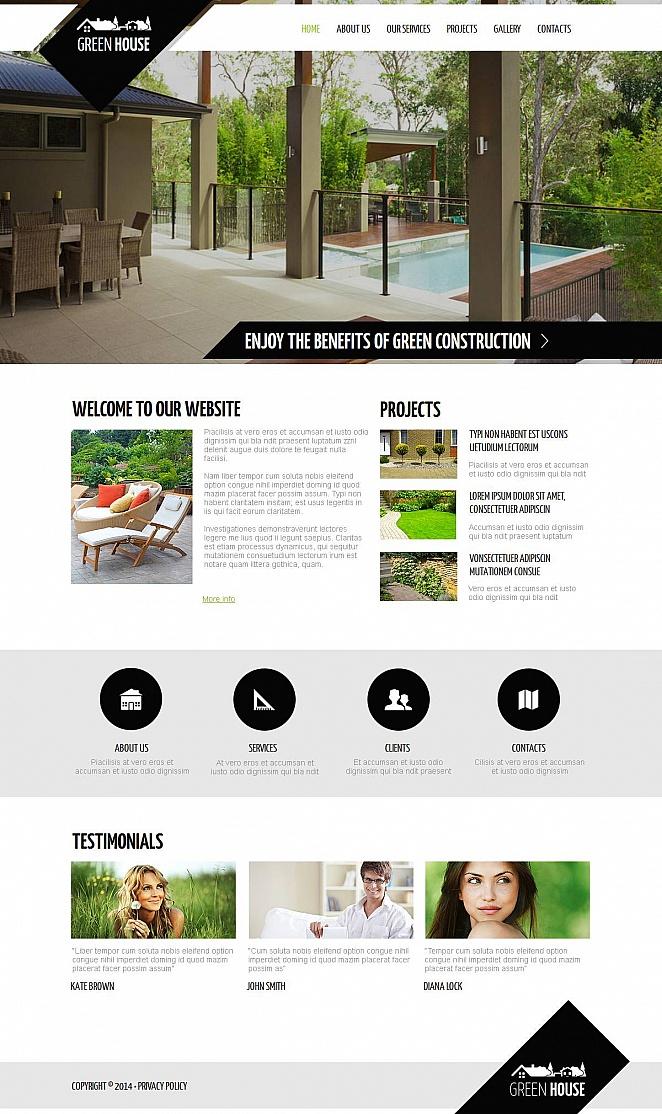 Landscape Design Website Template with Creative Geometry - image