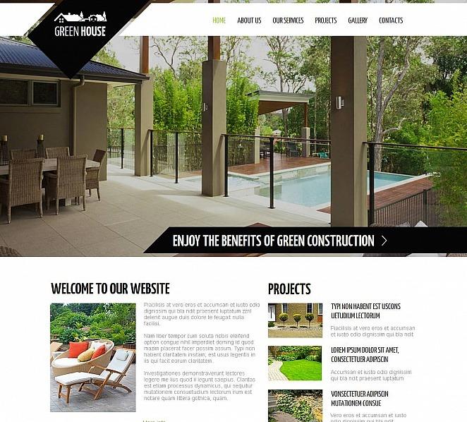 Szablon Moto CMS HTML #48866 na temat: architektura krajobrazu New Screenshots BIG