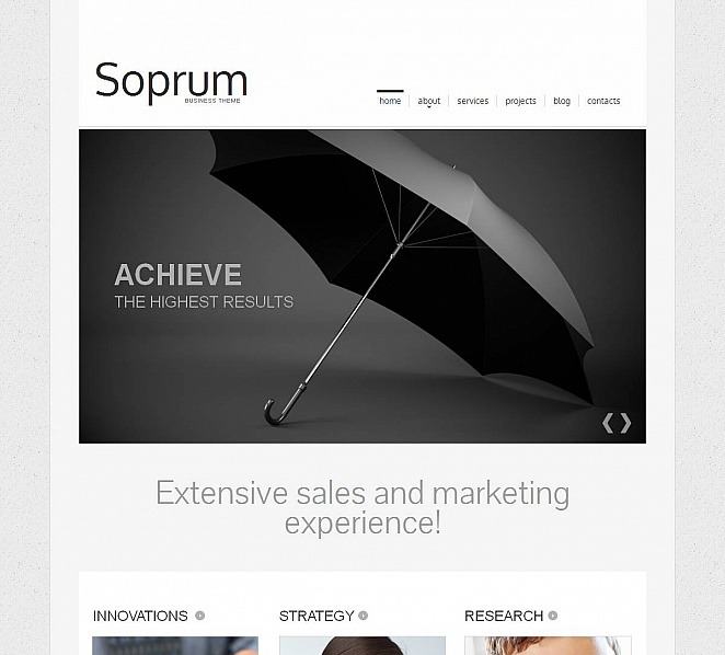 Premium Moto CMS HTML Template over Marketingbureau New Screenshots BIG