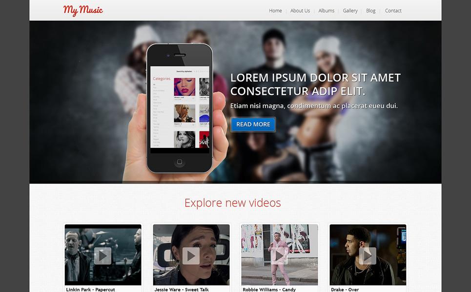 Responzivní Joomla šablona na téma Hudební Obchod New Screenshots BIG
