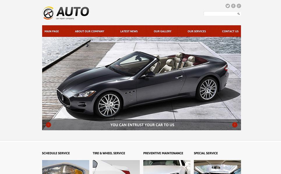 Thème Joomla adaptatif  pour site de réparation de voitures New Screenshots BIG