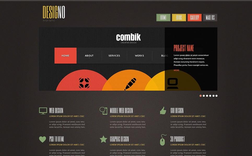 Tema Joomla Responsive #48885 per Un Sito di Design Studio New Screenshots BIG