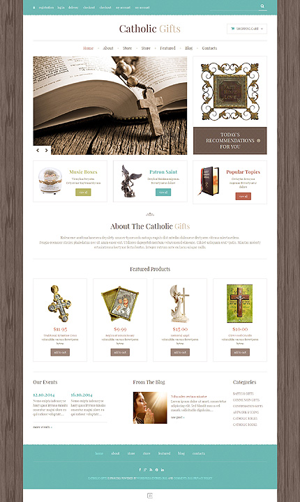 ADOBE Photoshop Template 48890 Home Page Screenshot