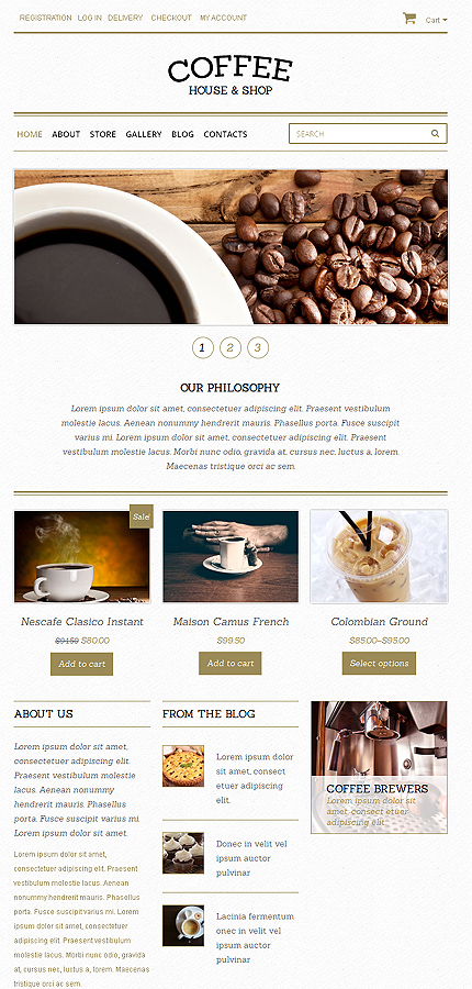 ADOBE Photoshop Template 48893 Home Page Screenshot