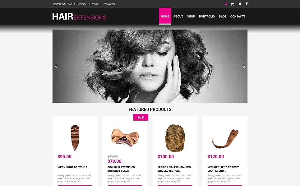 Responsive Kuaför Salonu  Woocommerce Teması New Screenshots BIG