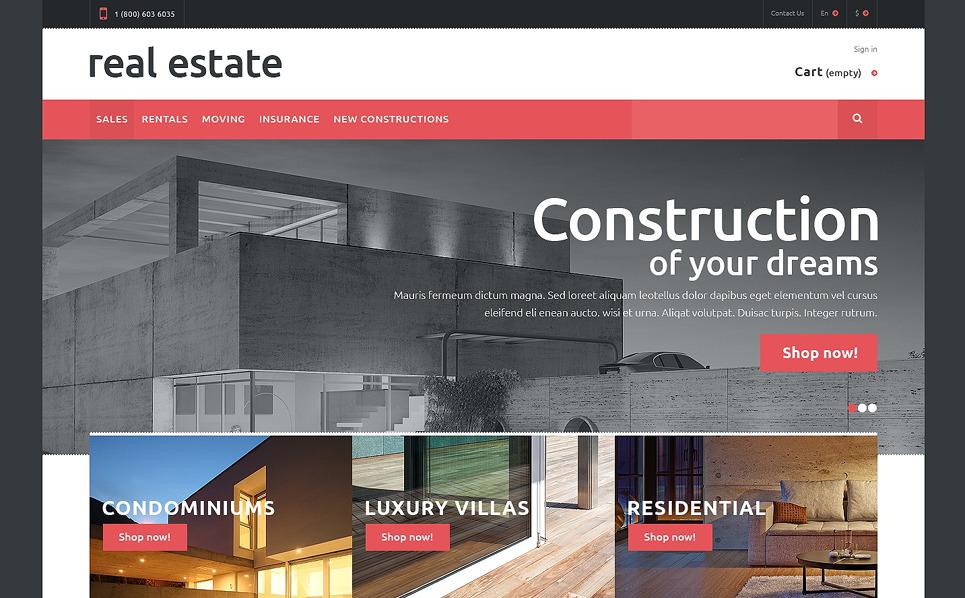 Responzivní PrestaShop motiv na téma Realitní kancelář New Screenshots BIG