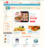 Food & Drink osCommerce  Template 48896