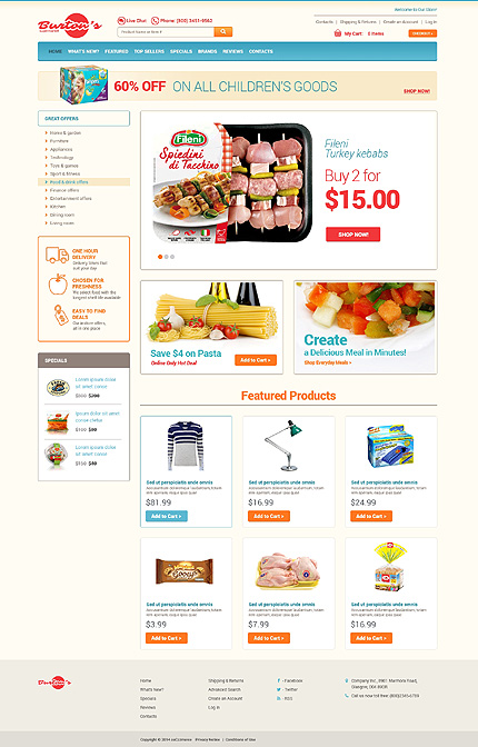 osCommerce Template 48896 Main Page Screenshot