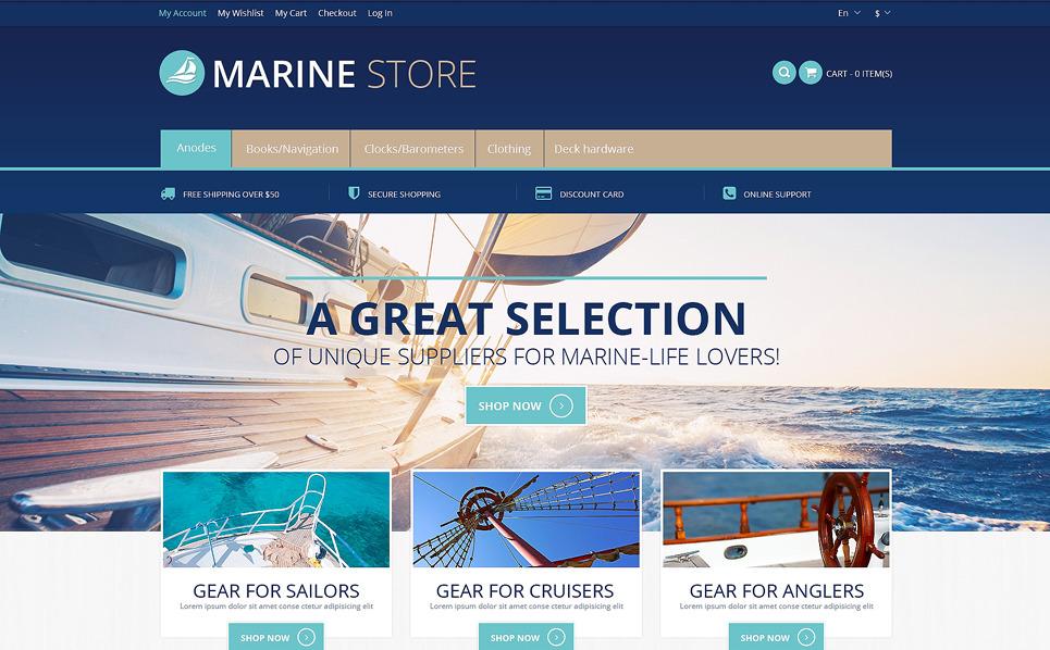 Адаптивний Magento шаблон на тему яхтинг New Screenshots BIG