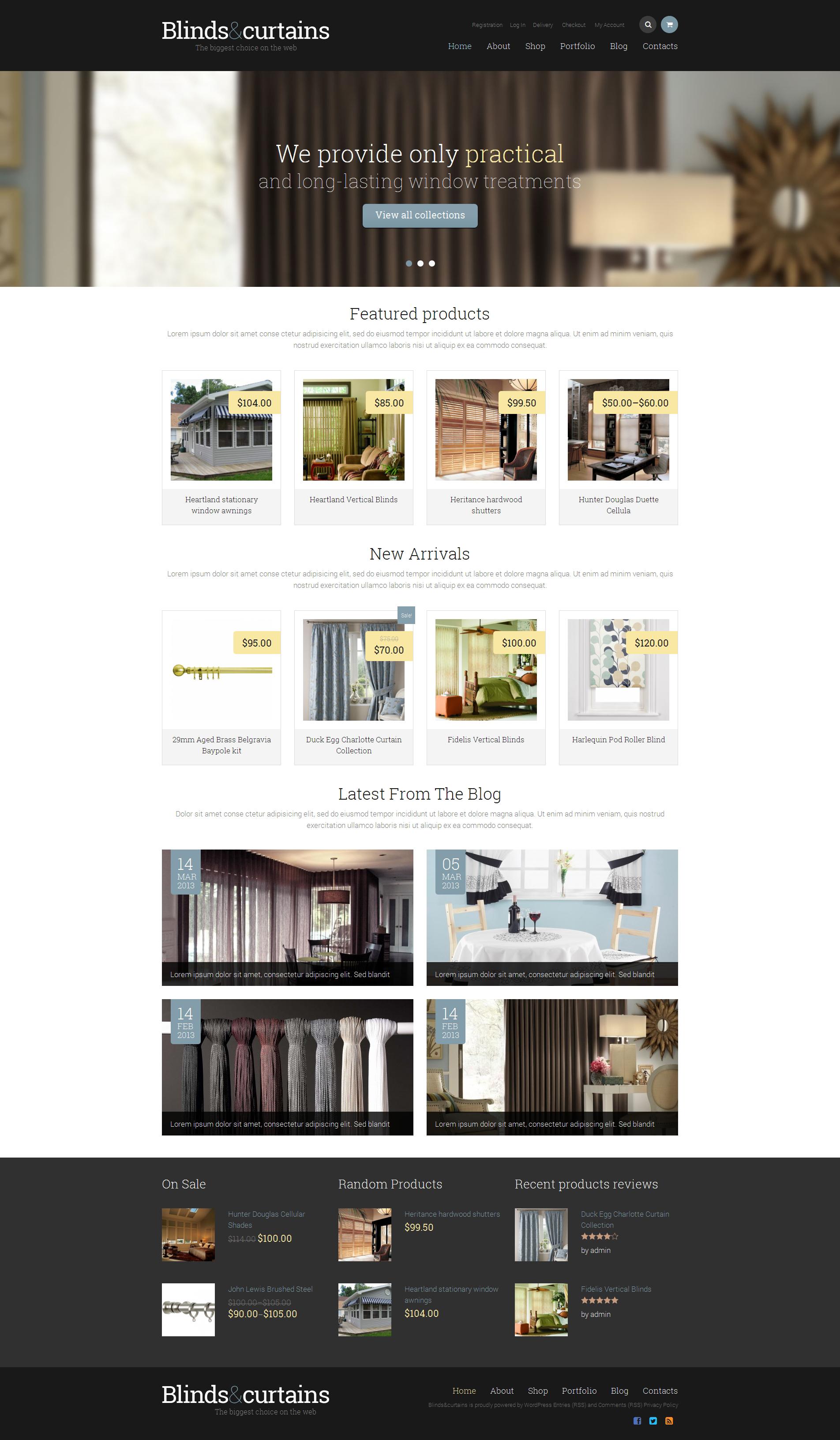 Адаптивний WooCommerce шаблон на тему window decor templates №48815 - скріншот
